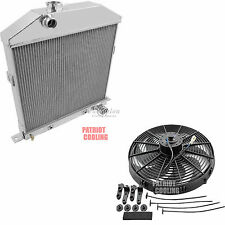 "1942 1943 1944-1948 Ford Coupe Radiator,Aluminum 2 Row 1""Tubes & 16"" Fan"