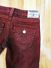 TRUE RELIGION  USA women's designer RED slim Skinny Jeans size 26 (NEW)