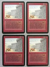 Wall of Stone Alpha X4 MTG Magic the Gathering