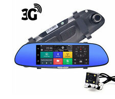 3G Android 5.0 GPS Car Video Recorder Bluetooth WIFI Dual Lens Rearview Mirror