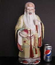 "Large Vintage Chinese God Fu Lu Shou Figurine Statue 17.5"""