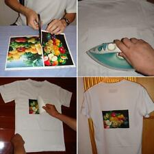 T-Shirt Inkjet Iron-On Print Heat Transfer Paper A3 For Light Color Fabric Cloth
