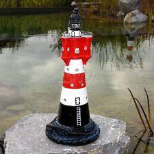 NEU LEUCHTTURM ROTER SAND 58 cm mit BLINKLICHT Garten Deko maritim Nordsee MEER