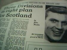 news item 1970 football jim townsend morton scottland battle football