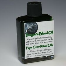 Dragon's Blood Oil Anoint Candles Use Spells Wicca Voodoo Full Moon Magic