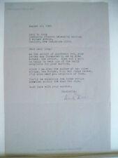 NICHOLAS P. DALLIS Signed Letter AUTHOR OF APARTMENT 3-G, REX MORGAN, M.D. 1985