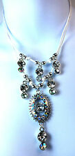 ELEGANT  SPARKLING DIMANTE AB STONE STRING NECKLACE BRAND NEW PARTY / CASUAL ST5