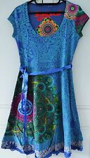 New Desigual Ladies Dress 'YOLANDA' Blue&Multi, Size XL