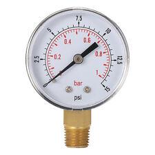 Mini Low Pressure Gauge For Fuel Air Oil Or Water 50mm 0-15 PSI 0-1 Bar LE