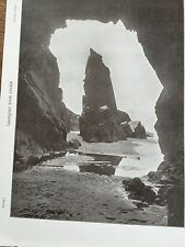 Antique 1903 NEEDLE ROCK & CAVES JERSEY CHANNEL ISLANDS Photograph Print Photo