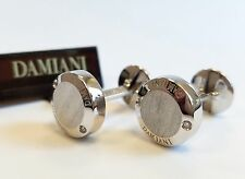 Damiani Blasoni 18k White Gold Diamonds Cufflinks