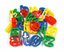 26 PLASTIC PLAY DOUGH COOKIE CUTTERS LOWER CASE LETTERS A-Z ALPHABET MB 9002-26
