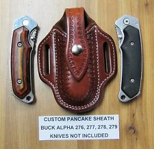 Custom Pancake Sheath Buck ALPHA Lockback Folding Knife 276-277-278-279 Choice