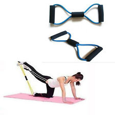 TPR 8 Style Stretch Yoga Training Bands Tube Lady Body Building Fitness Tool New