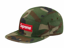 DS NEW Supreme Camo Wildlife Side Pocket Camp Cap FW16 Green Red Box Logo Hat