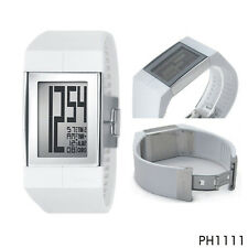 NWT PHILIPPE STARCK Men watch By FOSSIL Mirror Steel White Rubber w/Box PH1111