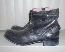 Urban Outfitters Sendra Brushed Silver Black Bomb Ankle Boots Size 9 S/O $425