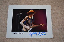 JOHNNY WINTER signed Autogramm 20x25cm In Person +2014