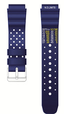 REAL RUBBER ORIGINAL CAVADINI(RUBBER)WRIST WATCH BAND GOOD QUALITY BLUE 20 MM