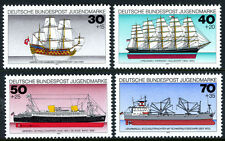 Germany B538-B541, MNH. Historic Ships, 1977