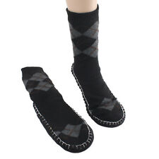 Casual Men Floor Slipper Socks Non-slip Thick Knitted Slipper Boat Shoes Home