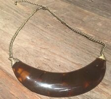 Vintage Authentic Natural Real Amber Modernist Cressent Collar Necklace