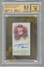 2016 Topps Allen and Ginter Framed Mini TREA TURNER RC Auto BGS 9.5/10  POP 1/1