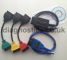 LATEST ELM + KKL VAG OBD2 + ADAPTERS + DIAGNOSTIC CABLE FIATECUSCAN ALFA FIAT