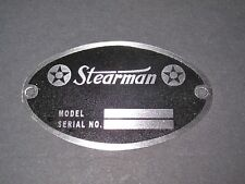 "Classic Stearman Aircraft DEA Required ""Aircraft Identification Data Plate"""
