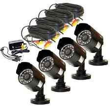 lot 4 Security Surveillance In/Out Waterproof 700TVL Cameras Wide Angle