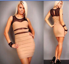 CELEB/COCKTAIL/PARTY//BALL  BANDAGE STYLE DRESS with BLACK NET  UK
