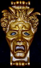 Gothic Mythical Wall Mask Pan God Sculpture Statue Art