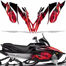 Yamaha APEX Decal Wrap Graphic Kit RTX GT MTX LTX Sled Snowmobile 12-16 ICE RED