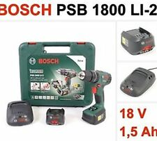 BOSCH 18V PSB 1800 LI-2 COMBI DRILL Power4All x2 BATTERIE CARICABATTERIE VELOCE
