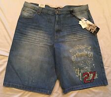 Mens Denim Shorts Jeans Distressed 42 Fashion Casual Big and Tall Urban