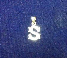 Pure 925 Sterling Silver Initial Alphabet S Letter Pendants for Unisex