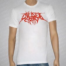 CHELSEA GRIN - Logo Burgundy On White T-shirt - NEW - SMALL ONLY