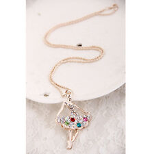 mix color Ballerina Necklace Pendant Ballet Dance Recital Gift Charm for Girls T