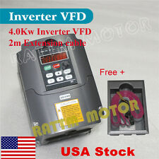 [USA ship] HY 4KW 18A VFD 220V 5HP Inverter Variable Frequency Drive CNC Router