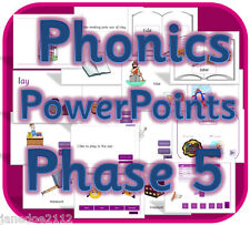 LETTERS AND SOUNDS PHASE 5 PHONICS IWB Powerpoint teaching resources CD KS1