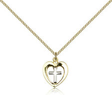"""Gold Filled Cross Necklace For Women On 18"""" Chain - 30 Day Money Back Guarantee"""