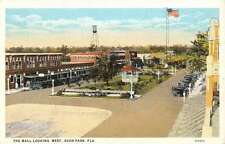 Avon Park Florida Mall Looking West Birdseyes View Antique Postcard K37659