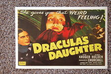 DRACULA'S DAUGHTER Lobby Card Movie Poster