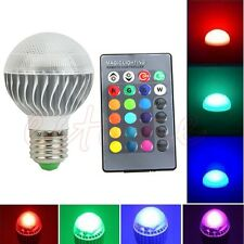E27 15W RGB LED Lamp Color Changing Light Bulb With Remote Control 85-265V