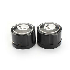 2PCS Skull Bolt Axle Front Nut Cover Cap for Touring Dyna Harley-Davidson Sports