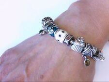 "Beautiful Pandora 7"" Bracelet w/ 11 925 ALE Charms- Some Retired. WEAR READY!!"