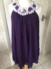 Nomads Ladies Short Purple Sleeveless Dress Size S. Good Condition.