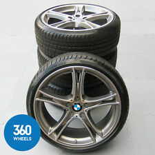 "NEW GENUINE BMW 3 4 SERIES 20"" M SPORT 361 GREY BRIGHT ALLOY WHEELS TYRES"