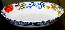 "Ralph Lauren MANDARIN BLUE China - Oval Serving Bowl 10 1/4"" x 5 1/2"" x 2 1/4"""