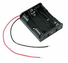 AA x 3 Open Battery Holder Box 15cm Wires